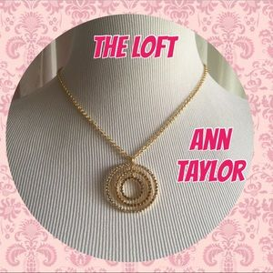 Loft gold color rings pendant with rhinestones